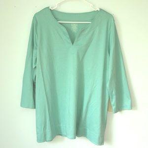 LL Bean XL 3/4 Sleeve Top